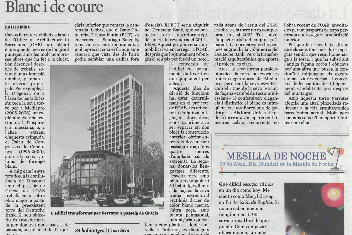 ARTICLE A LA VANGUARDIA